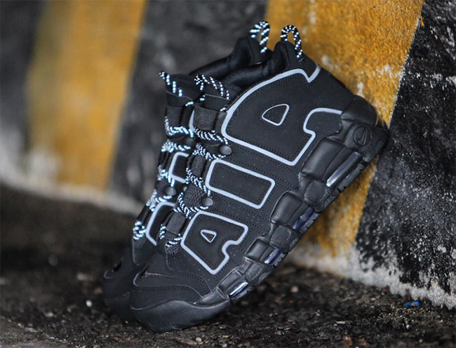 Nike Air More Uptempo ??Triple Black?? and 3M Reflective - Sneaker News