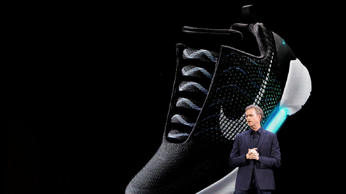 3df42d5f72cb outlet Nike s  Back to the Future  Power-Lacing Sneakers Hit Stores in NYC.